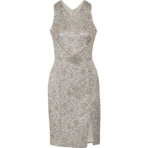 Theia metallic brocade dress 2